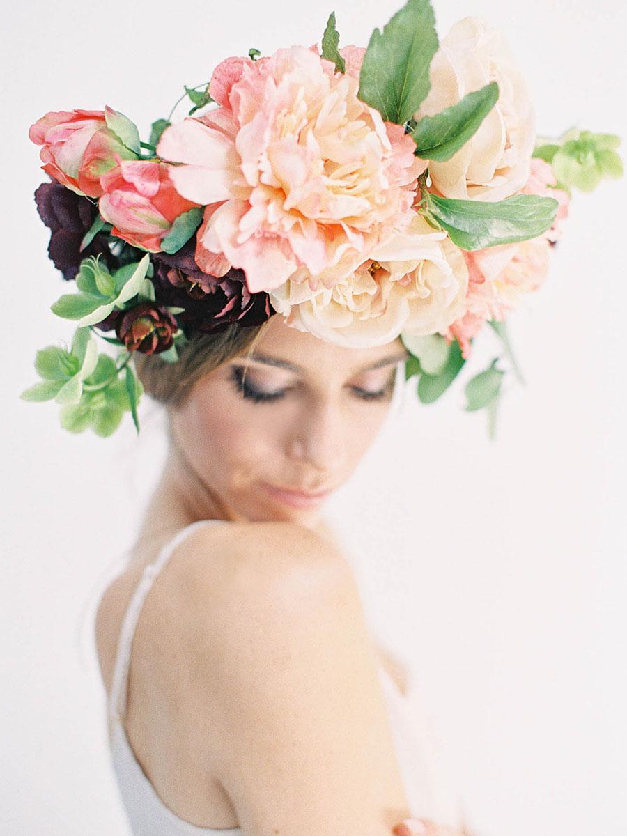 blommor till håret