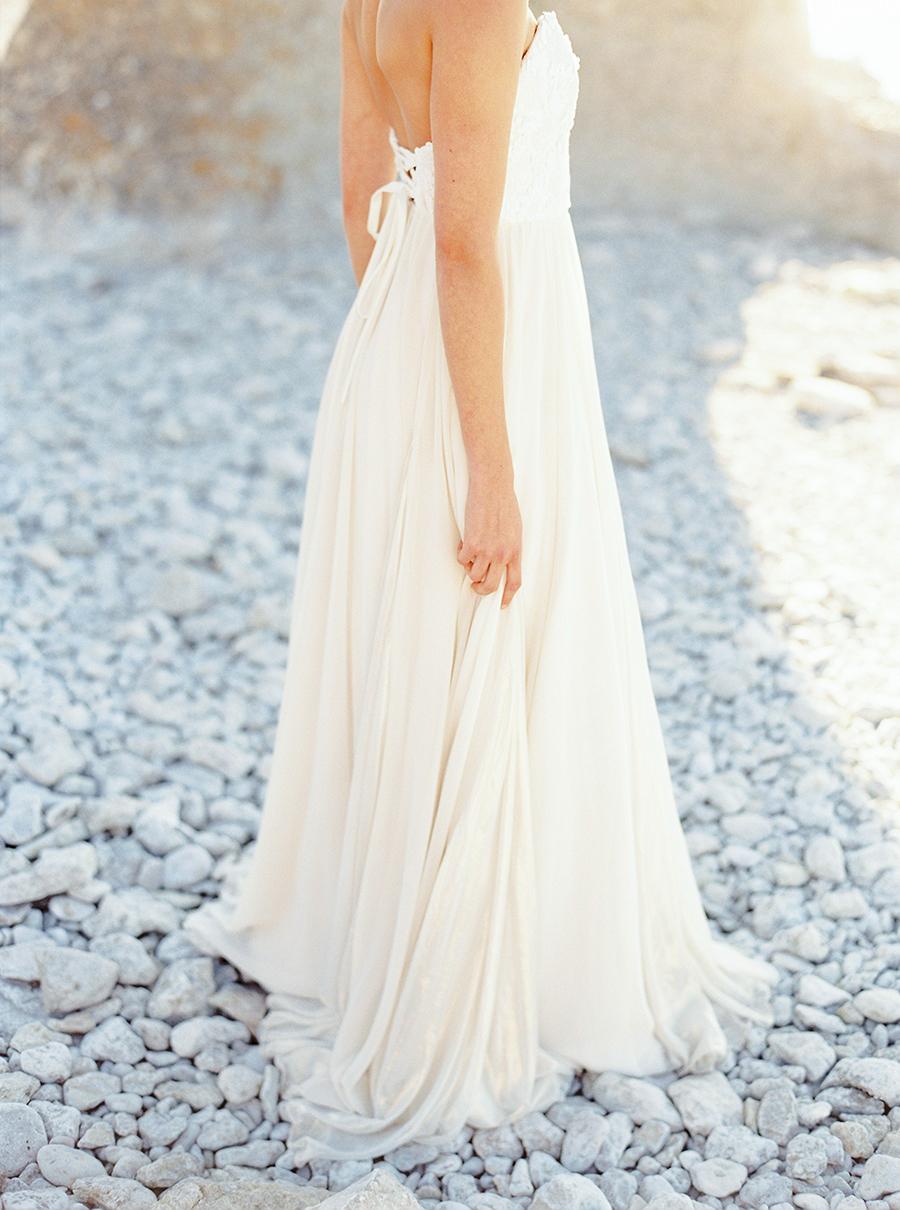 brudklänning med sweetheart skärning