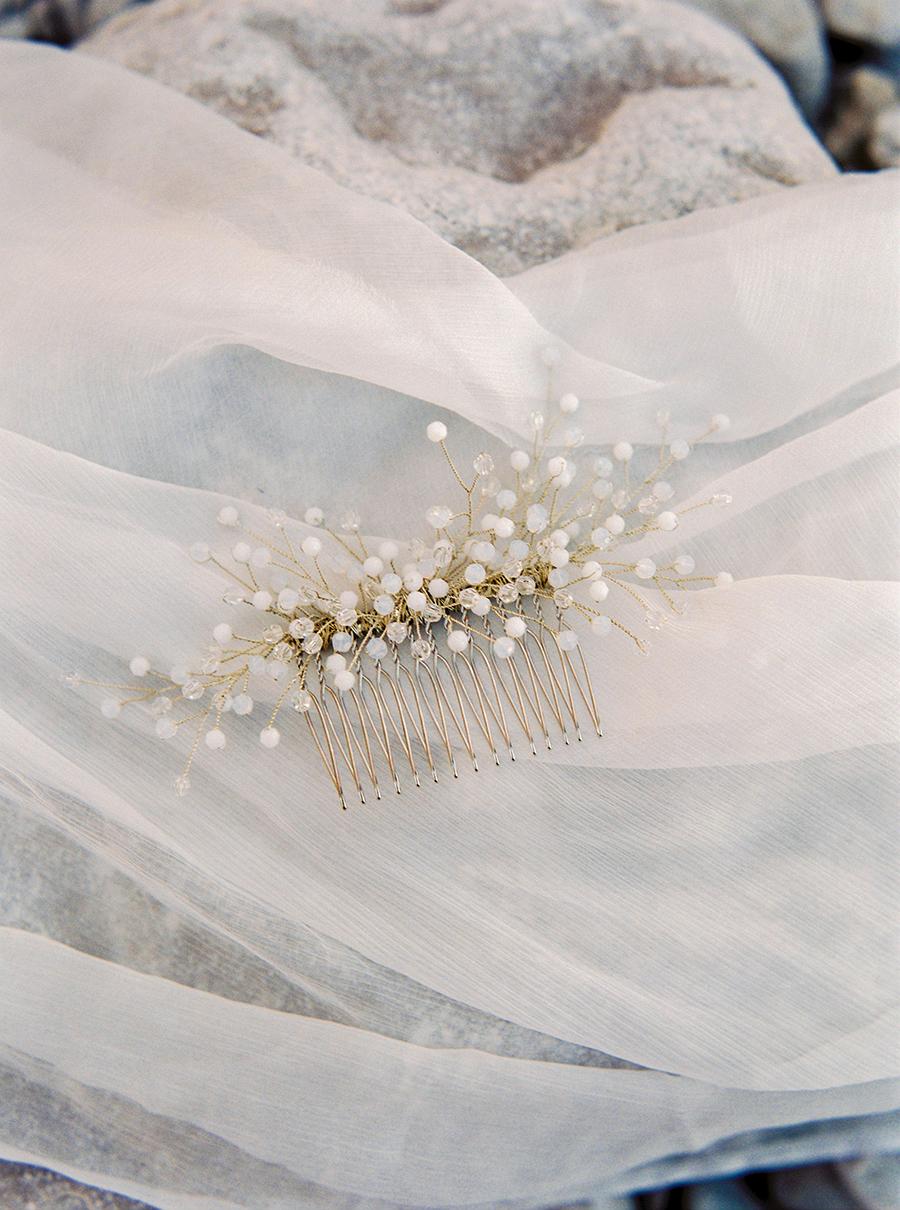 kam med kristaller för bruden