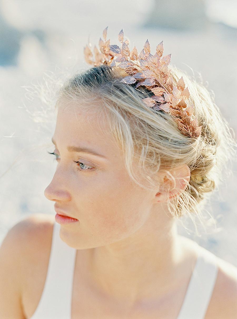bröllopstiara i roseguld